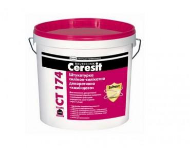 Штукатурка силикон-силикатная декоративная Ceresit СТ 174 (камешковая, 1.5 мм)