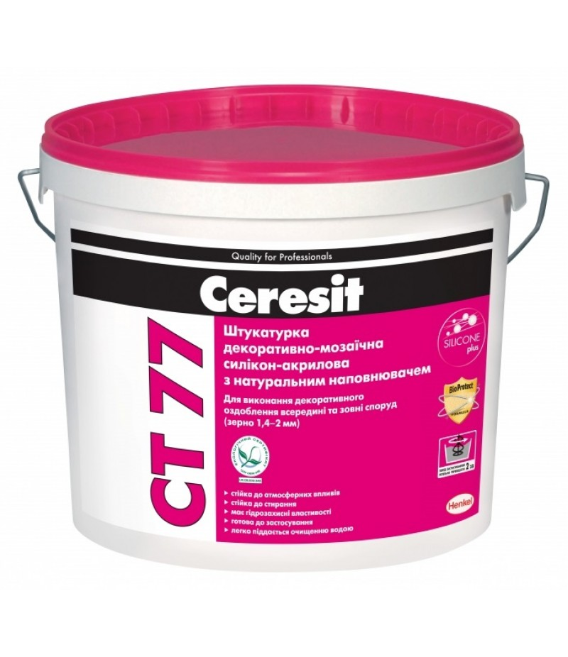 Штукатурка  декоративно-мозаичная полимерная Ceresit СТ 77