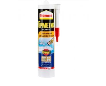 Герметик Момент силиконовый санитарный (для ванны и кухни) БЕЛЫЙ