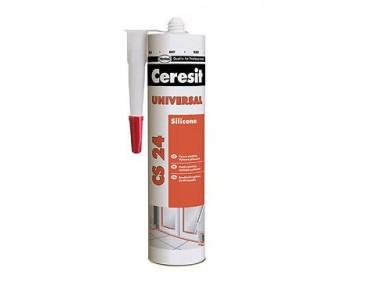 Герметик Ceresit CS 24 силиконовый универсальный БЕЛЫЙ